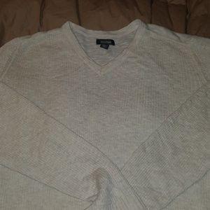 Kenneth Cole Linen blend V-Neck ribbed sweater